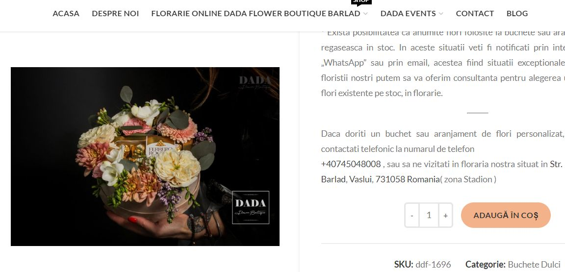 Faq Florarie Online 1 adauga aranjamentul floral in cos